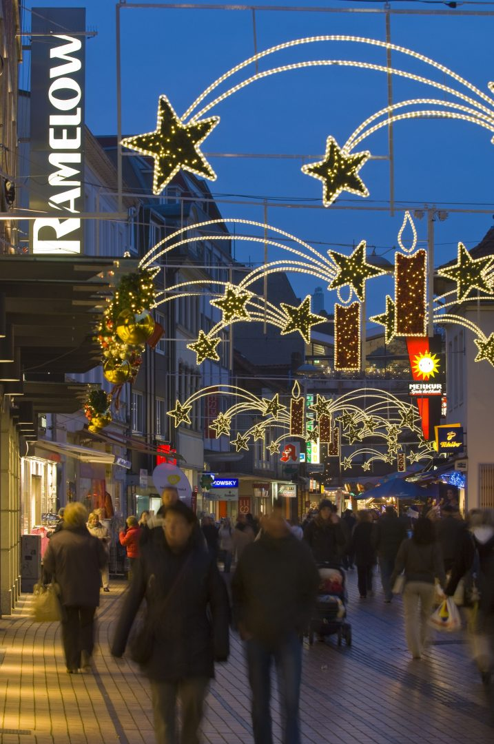 Weihnachtsbeleuchtung Königstraße Elmshorn